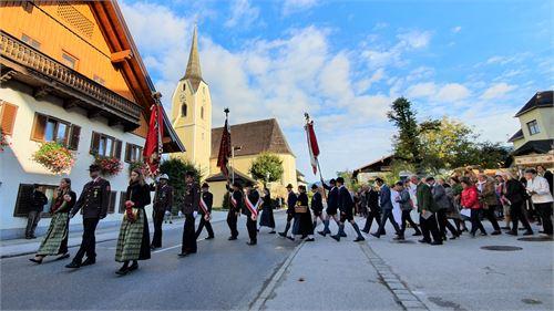 Erntedankfest - Abmarsch vom Kirchenwirt Puch