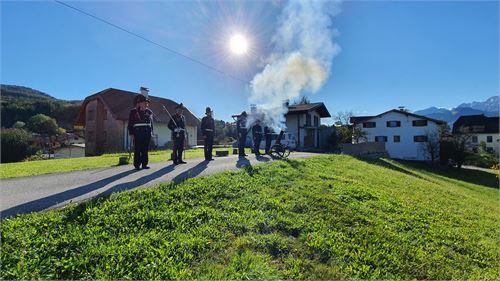 Historische Schützenkompanie Puch beim Erntedankfest