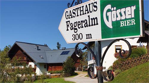 Wegweiser zur Fageralm in Elsbethen