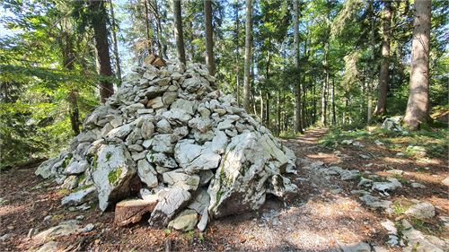 Steinhaufen - höchster Punkt der Tour