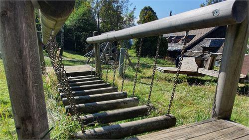Hängebrücke bei der Erentrudisalm Elsbethen