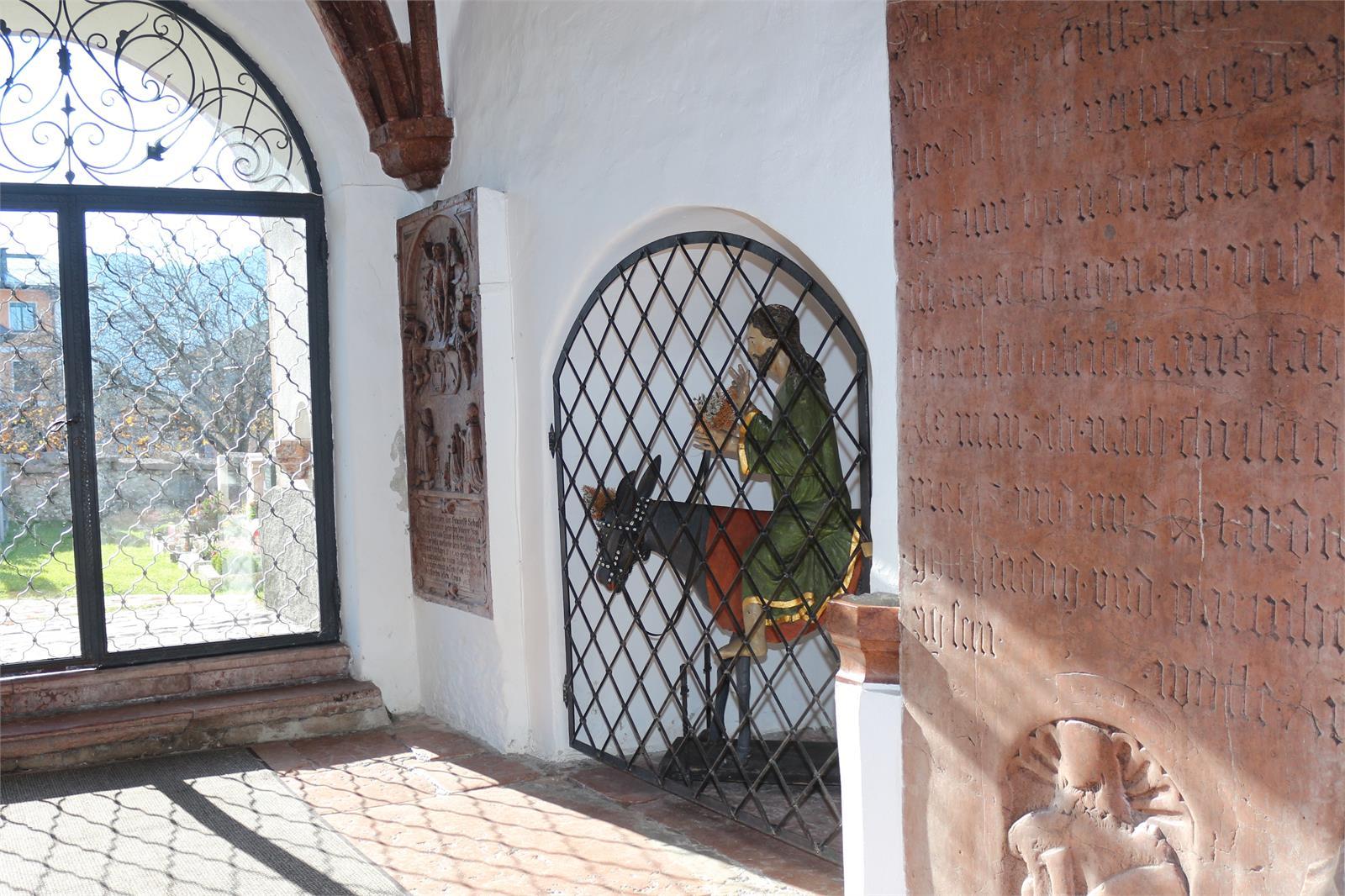 Pucher Palmeseln im Glockhaus in der Pfarrkirche Puch | ©TVB Puch
