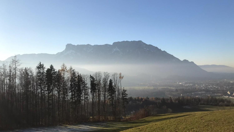 Wandern am Panoramaweg in Puch mit Untersbergblick | ©TVB Puch