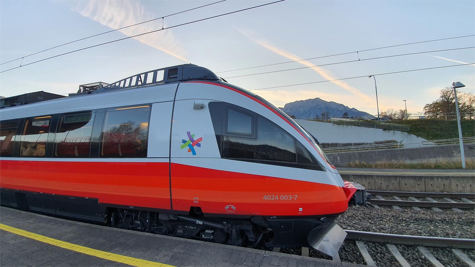 S-Bahn in Puch Urstein | ©TVB Puch - Gerber