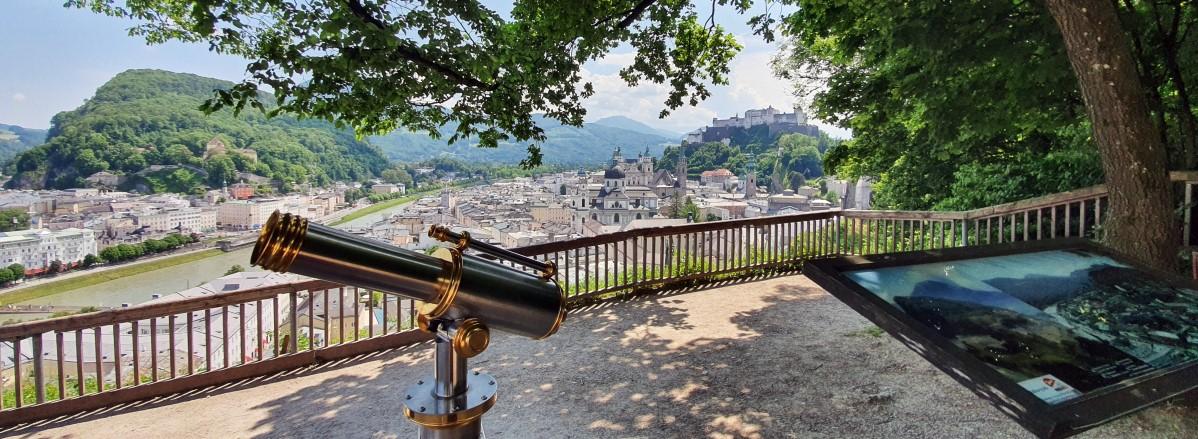 Möchnsberg Ausblick beim Museum der Moderne © TVB Puch - Gerber