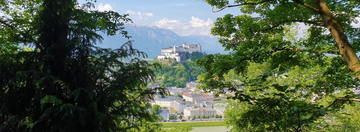 Blick auf die Festung Hohensalzburg vom Kapuzinerberg ©