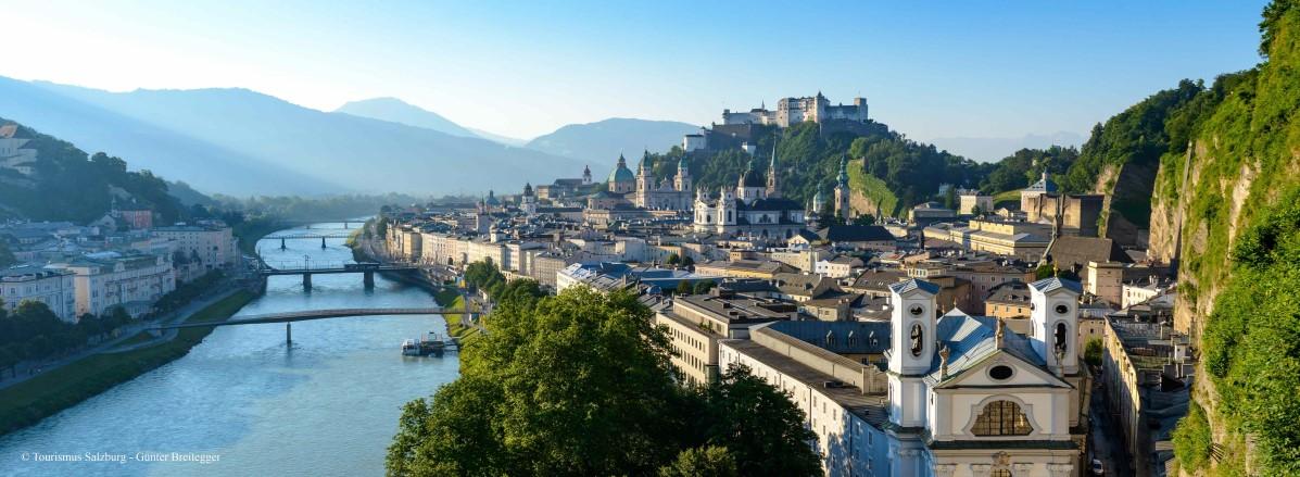 Blick auf die Stadt Salzburg © SalzburgerLand Tourismus - Günter Breitegger